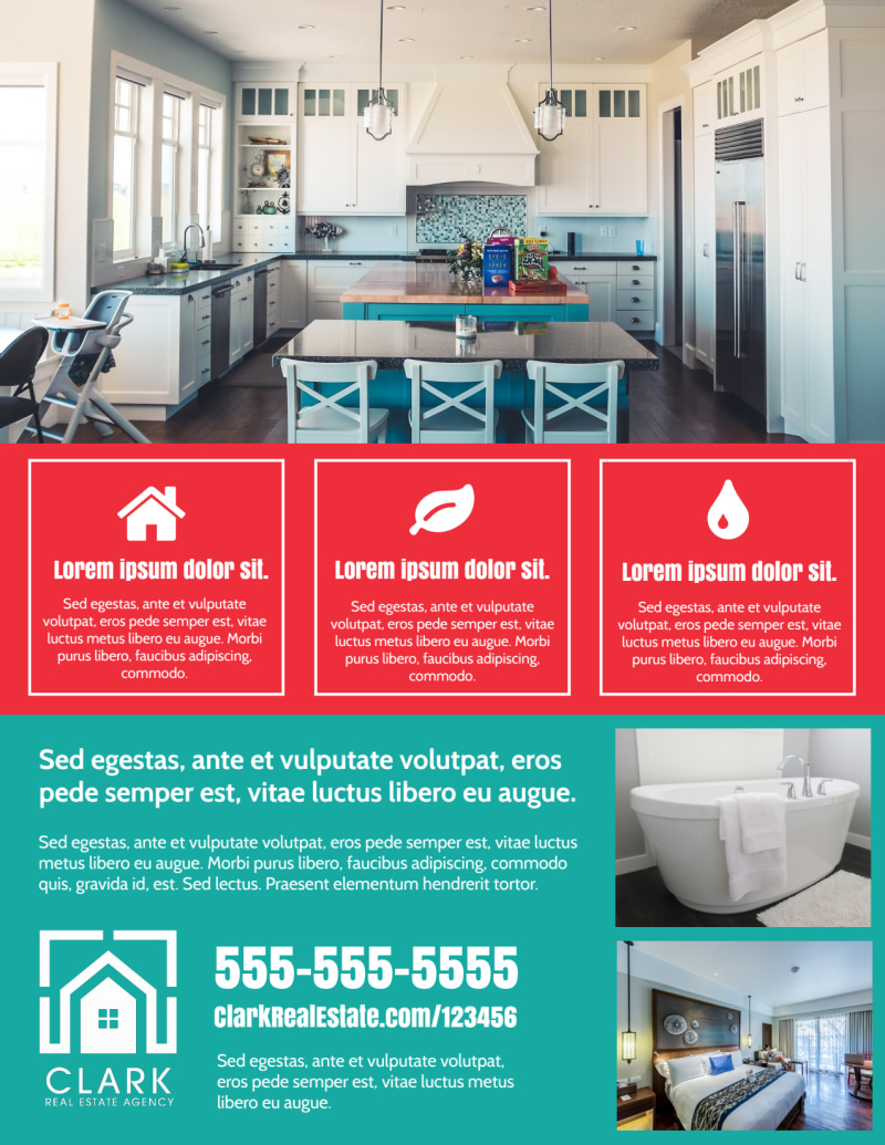 Open House Info Flyer Template Preview 3