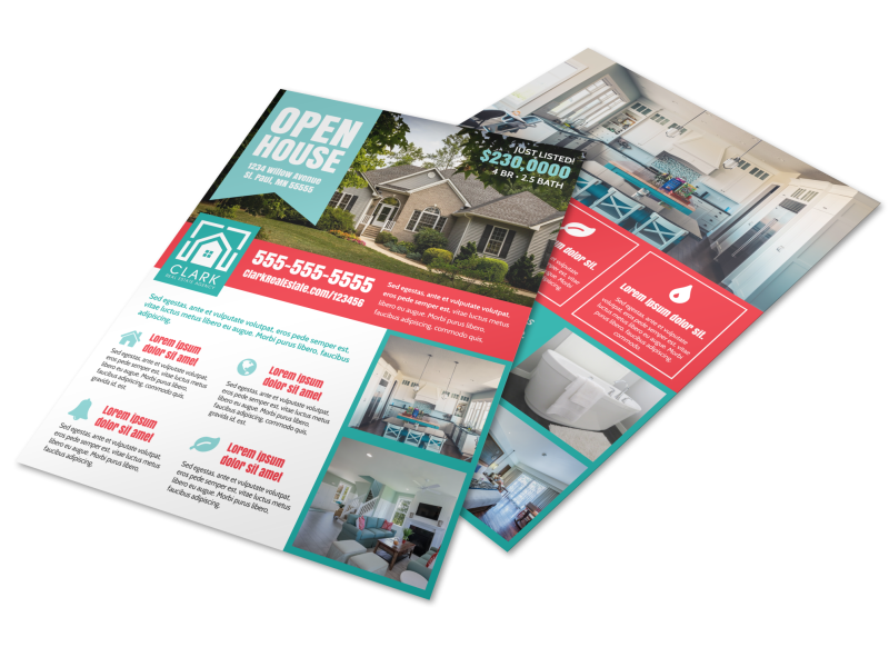 Open House Info Flyer Template Preview 1