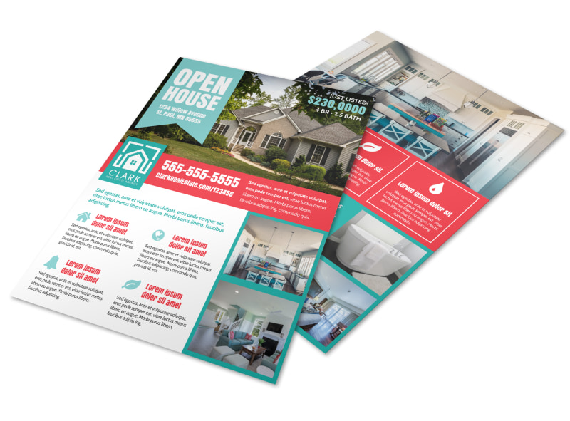 Open House Info Flyer Template Preview 4