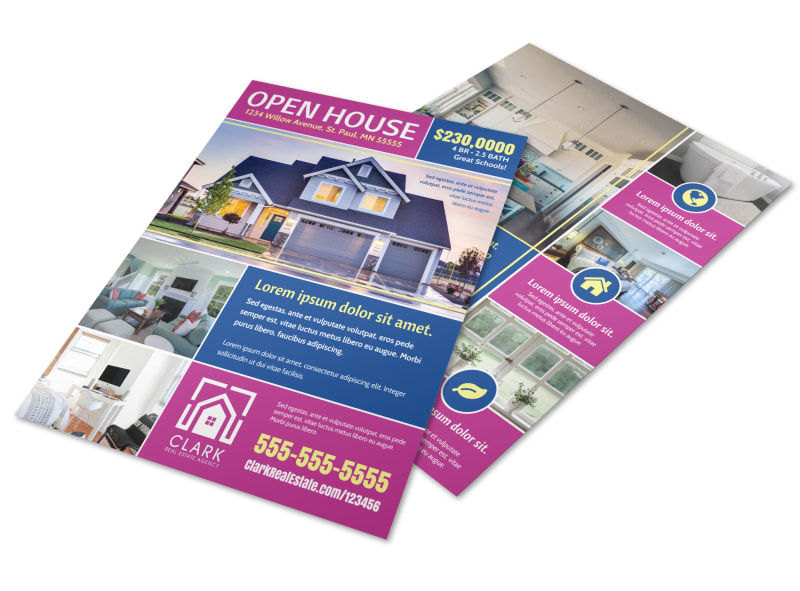 Fun Open House Flyer Template Preview 4