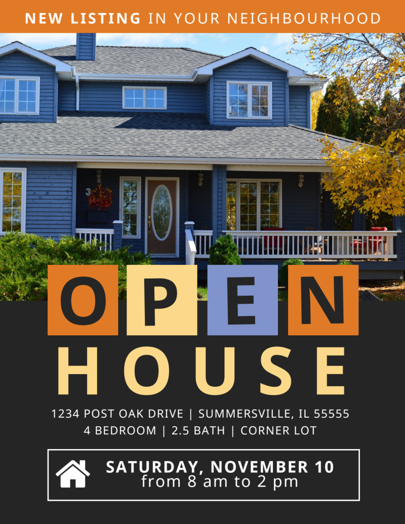 New Listing Open House Flyer Template Preview 2