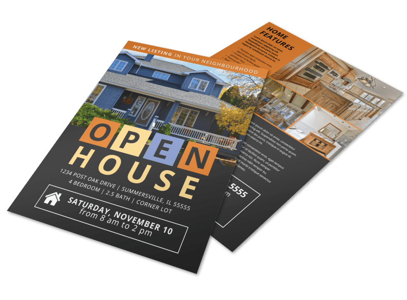 New Listing Open House Flyer Template Preview 1