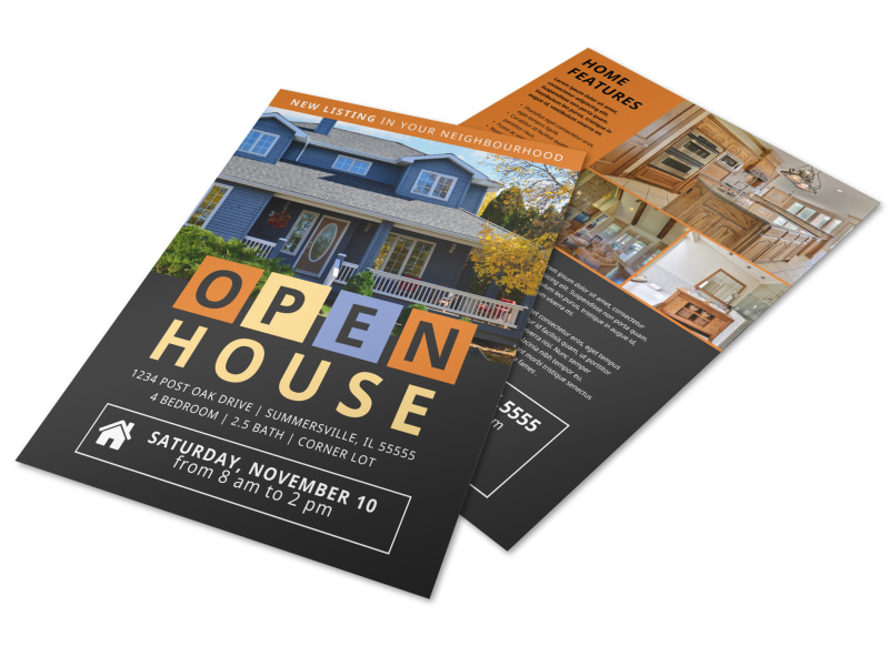 New Listing Open House Flyer Template Preview 4