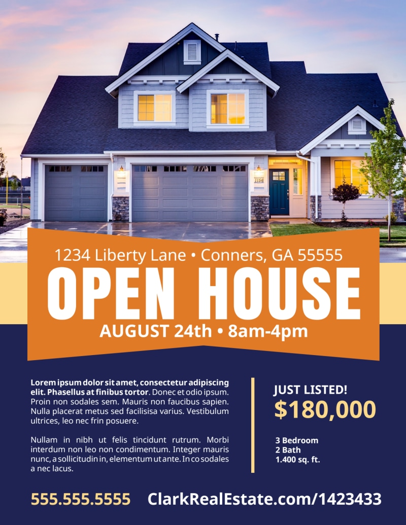 Open House Feature Flyer Template Preview 2