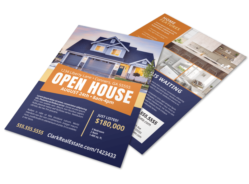 Open House Feature Flyer Template Preview 1