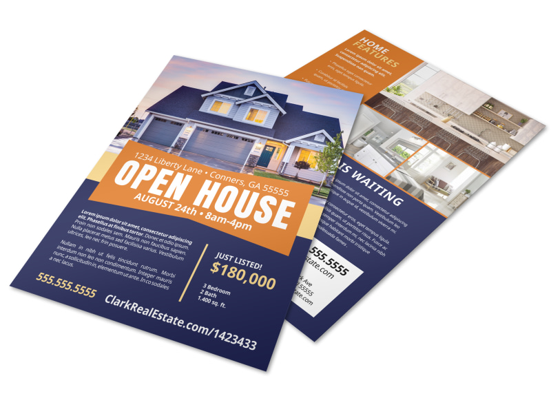 Open House Feature Flyer Template Preview 4