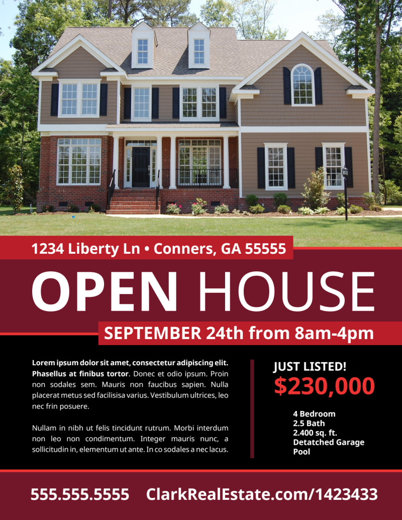 Cool Open House Flyer Template Preview 2
