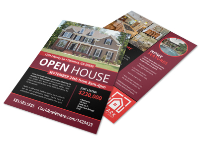 Cool Open House Flyer Template preview