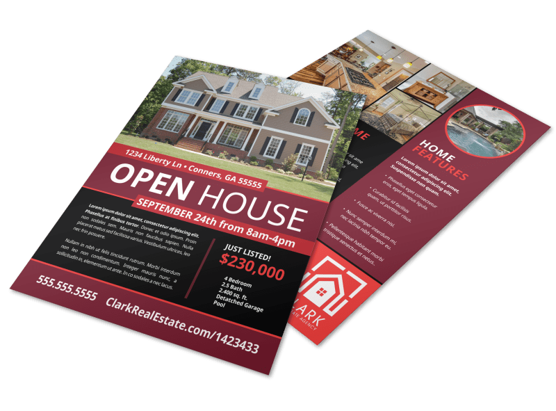 Cool Open House Flyer Template Preview 1