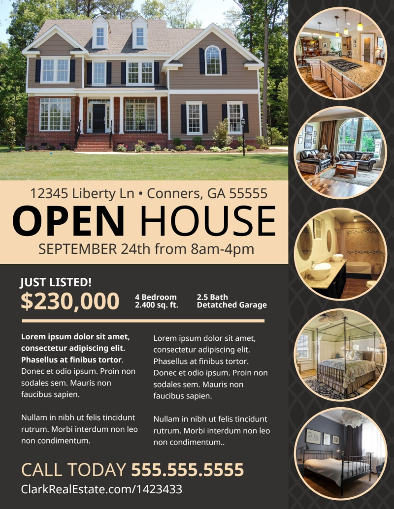 Neat Open House Flyer Template Preview 2