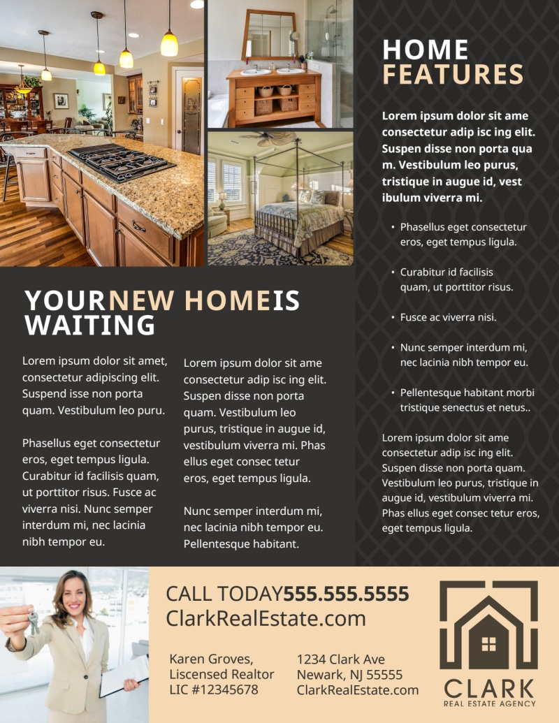 Neat Open House Flyer Template Preview 3