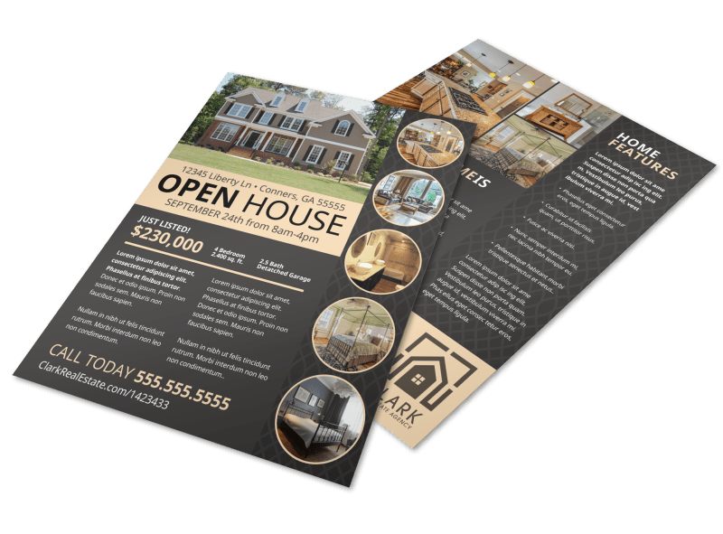 Neat Open House Flyer Template Preview 1