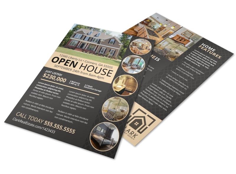 Neat Open House Flyer Template Preview 4