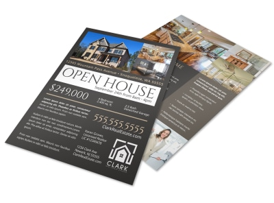 Dark Open House Flyer Template preview
