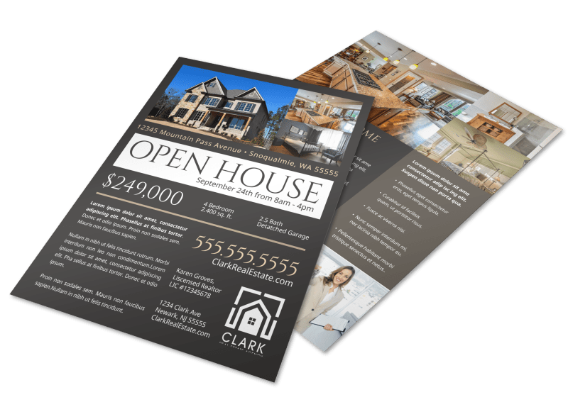 Dark Open House Flyer Template Preview 1