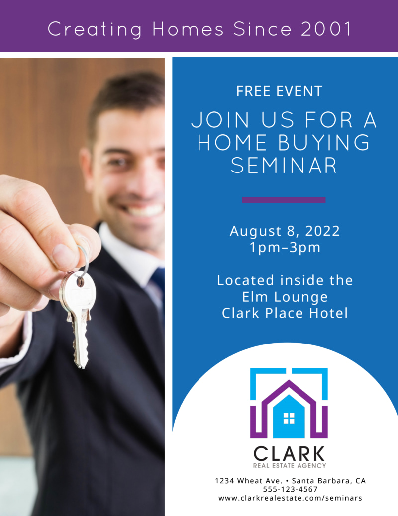 Home Buying Seminar Flyer Template Preview 2