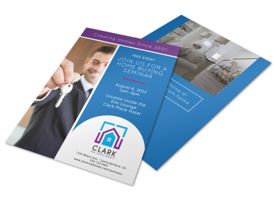 Home Buying Seminar Flyer Template preview