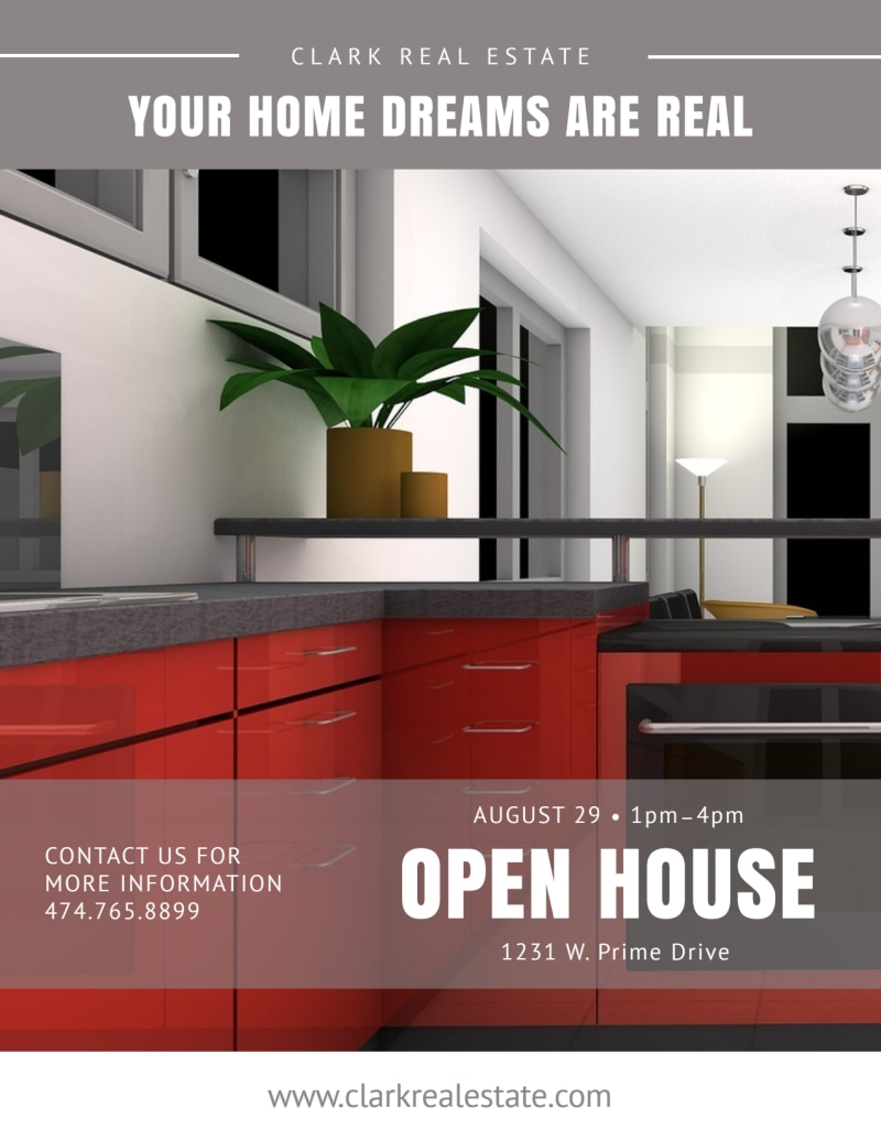 Clean Open House Flyer Template Preview 2