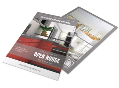 Clean Open House Flyer Template preview