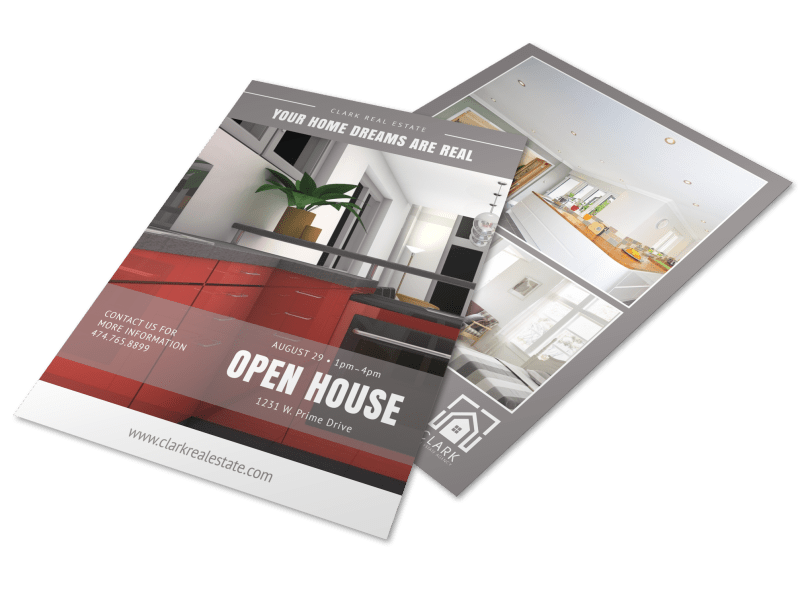 Clean Open House Flyer Template Preview 1