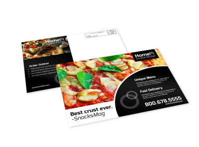 Pizza Restaurant Kitchen EDDM Postcard Template preview