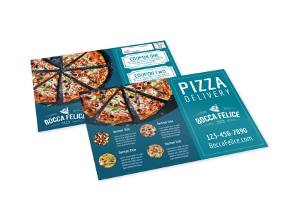 Pizza Delivery EDDM Postcard Template preview