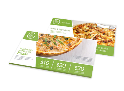 Modern Pizza Restaurant EDDM Postcard Template preview