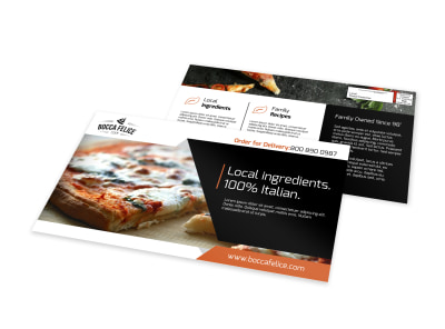 Local Pizza Restaurant EDDM Postcard Template preview