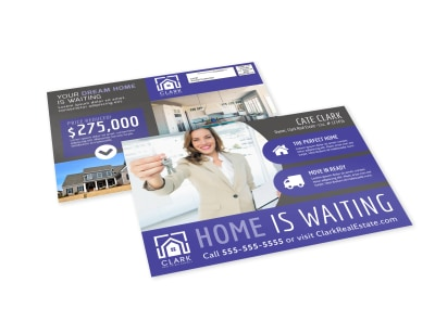Home Waiting EDDM Postcard Template preview