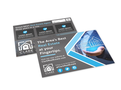 Area Real Estate EDDM Postcard Template preview