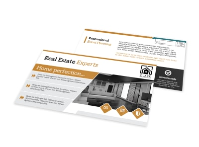 Real Estate Expert EDDM Postcard Template preview