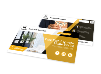 Real Estate Specialist EDDM Postcard Template preview