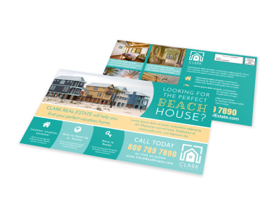 Beach House EDDM Postcard Template preview