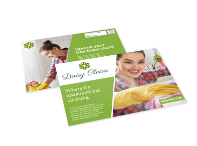 Spring Cleaning EDDM Postcard Template preview