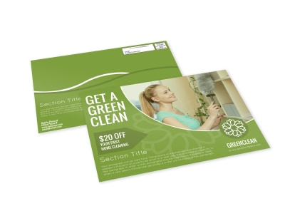 Green Cleaning EDDM Postcard Template preview