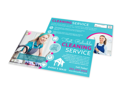 Fast Cleaning Business EDDM Postcard Template preview