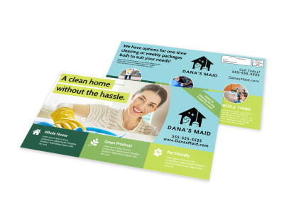 Clean House EDDM Postcard Template preview