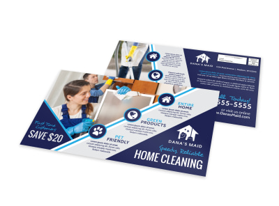 Special Home Clean EDDM Postcard Template preview