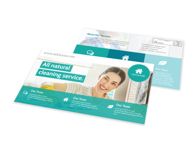 Natural Cleaning EDDM Postcard Template preview