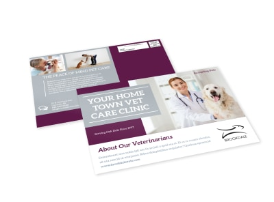 Simple Veterinary EDDM Postcard Template preview