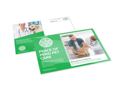 Pet Care EDDM Postcard Template preview