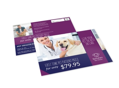 Special Pet Care EDDM Postcard Template preview