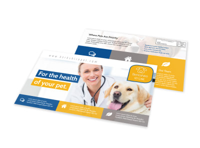 Healthy Pet EDDM Postcard Template preview