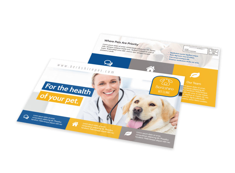 Healthy Pet EDDM Postcard Template Preview 1