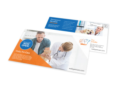 Now Open Pet Care EDDM Postcard Template preview