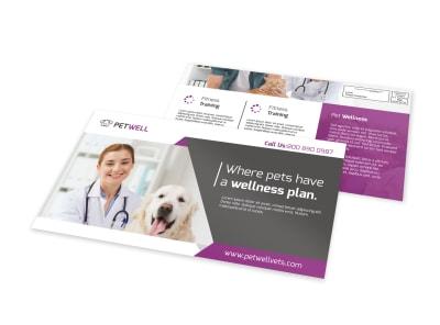 Pet Wellness EDDM Postcard Template preview