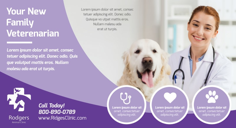 Family Veterinarian EDDM Postcard Template Preview 2