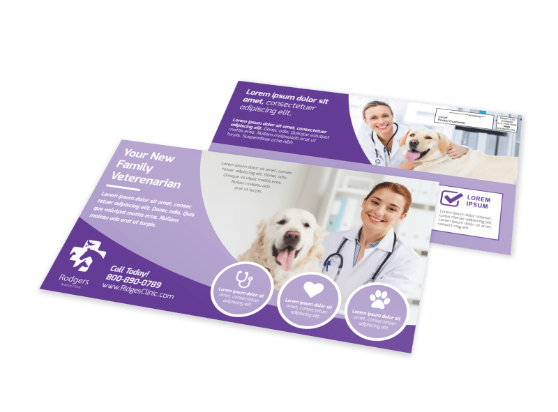 Family Veterinarian EDDM Postcard Template Preview 1