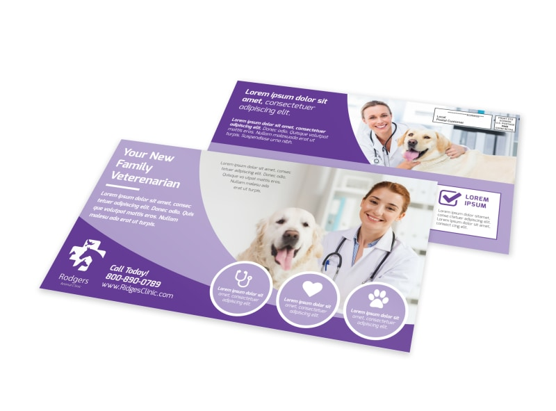 Family Veterinarian EDDM Postcard Template Preview 4