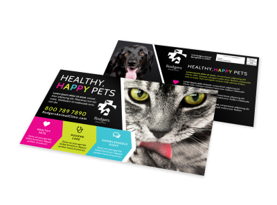 Happy Pets EDDM Postcard Template preview